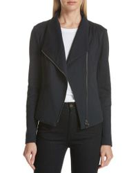 Nordstrom - High Collar Fitted Jacket - Lyst