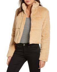 Tiger Mist - Bridget Faux Fur Puffer Jacket - Lyst