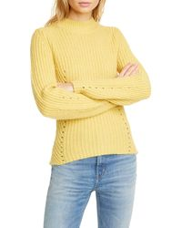 La Vie Rebecca Taylor - Fisherman's Ribbed Pointelle Knit Pullover - Lyst