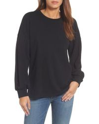 Pleione Tie Back Sweatshirt - Black