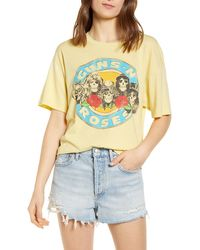 Daydreamer Guns N' Roses Welcome To The Jungle Graphic Tee - Yellow