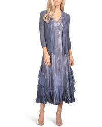 Komarov - Waterfall Midi Dress With Jacket - Lyst