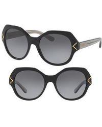 Tory Burch - 53mm Polarized Gradient Geometric Sunglasses - Lyst