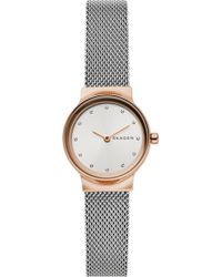 Skagen Freja Two - Tone Steel - Mesh Watch - Metallic