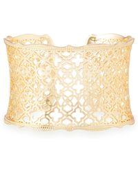 Kendra Scott - Candice Gold Cuff Bracelet - Lyst