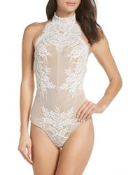 Free People - Urban Outfitters Miley Lace Bodysuit - Lyst