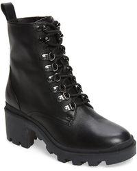 BP. Taylor Block Heel Combat Boot - Black