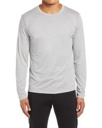Theory Gaskell Long Sleeve Crewneck Men's Shirt - Gray