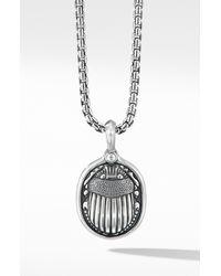 David Yurman Petrvs Scarab Amulet Enhancer - Metallic