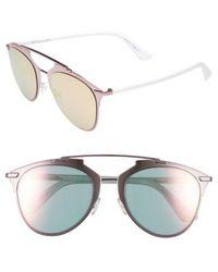 Dior - Reflected 52mm Brow Bar Sunglasses - - Lyst