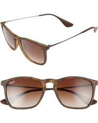 Ray-Ban Chris 54mm Gradient Lens Sunglasses - Gradient Brown