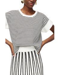 J.Crew Stripe Boxy Short Sleeve Sweater - Multicolour