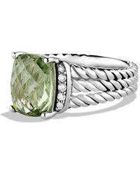 David Yurman Wheaton Ring With Semiprecious Stone & Diamonds - Multicolor