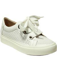 Vaneli Yora Perforated Platform Sneaker - White
