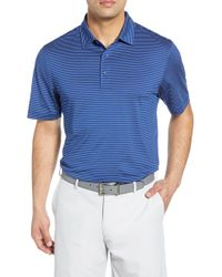Cutter & Buck Forge Drytec Pencil Stripe Performance Polo - Blue