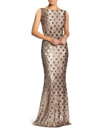 Dress the Population - Yvette Sequin Trumpet Gown - Lyst