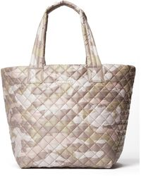 MZ Wallace - Metro Medium Leather-trimmed Quilted Camouflage-print Ripstop Tote - Lyst