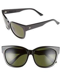Electric 'danger Cat' 58mm Retro Sunglasses - Gloss Black/ Grey