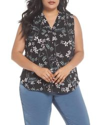 Vince Camuto - Botanical Sleeveless Top - Lyst