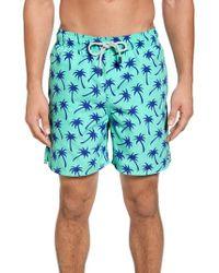 Tom & Teddy - Palm Tree Print Swim Trunks - Lyst