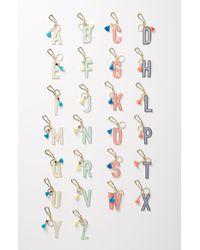 Anthropologie Juniper Monogram Key Chain - Metallic