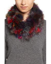 Toria Rose - Genuine Fox Fur Infinity Scarf - Lyst