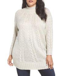 Caslon - Caslon Cable Knit Tunic Sweater - Lyst