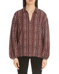 Lafayette 148 New York - Delora Print Silk Blouse - Lyst