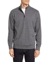 Vineyard Vines Herringbone Half Zip Flannel Pullover - Gray