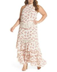Glamorous - Floral & Lace Tiered Two-piece Dress - Lyst