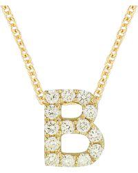 Bony Levy 18k Gold Pavé Diamond Initial Pendant Necklace (nordstrom Exclusive) - Metallic