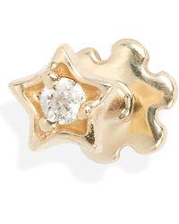 Maria Tash - Diamond Solitaire Star Threaded Stud Earring - Lyst