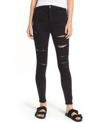 TOPSHOP - Moto Joni Ripped Skinny Jeans - Lyst