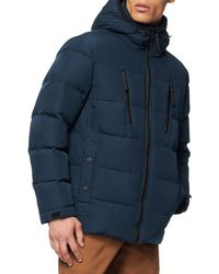 Marc New York Montrose Water Resistant Down & Feather Fill Quilted Coat - Blue