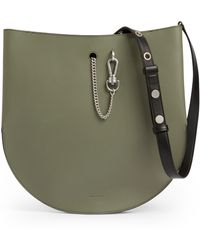 AllSaints Beaumont Leather Hobo Bag - Green