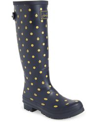 Joules 'welly' Print Rain Boot - Blue