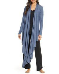 Nordstrom Hacci Knit Waterfall Cardigan - Blue