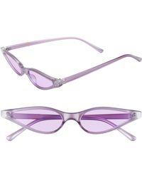 26c38b12d9 Leith - 55mm Extreme Wide Cat Eye Sunglasses - Purple - Lyst