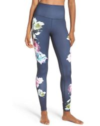 Zella - Pure Floral Ink High Waist Leggings - Lyst