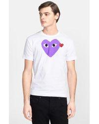 Play Comme des Garçons - Heart Print T-shirt - Lyst