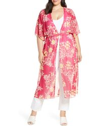 Vince Camuto - Floral Getaway Chiffon Duster - Lyst