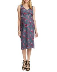 Rosie Pope - Tara Floral Maternity/nursing Wrap Dress - Lyst