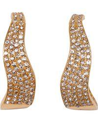 Vince Camuto Pave Crystal 26mm Wavy Hoop Earrings - Metallic