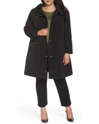 Gallery - Hooded A-line Raincoat - Lyst
