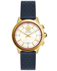 Tory Burch - Collins Hybrid Leather Strap Watch - Lyst