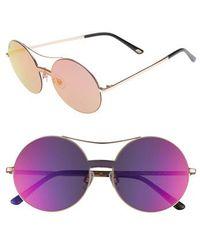 Web - 55mm Round Metal Shield Sunglasses - Light Bronze/ Gradient - Lyst