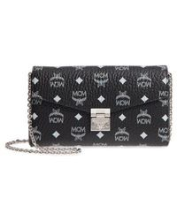 MCM - Millie Visetos Canvas Wallet On A Chain - - Lyst
