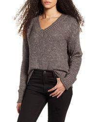 BP. Cozy V-neck Sweater - Gray