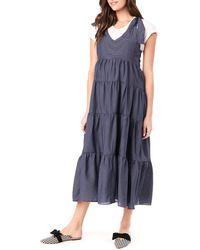 Loyal Hana Rio Maternity/nursing Dress - Blue