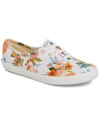 Keds - Keds X Rifle Paper Co. Champion Floral Print Sneaker - Lyst